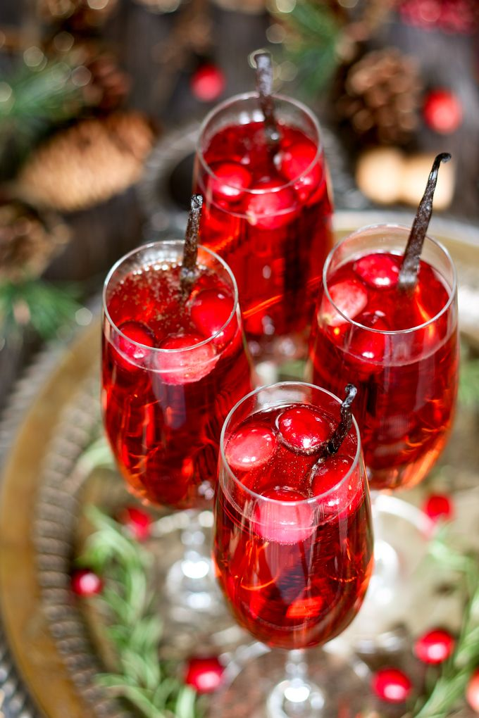 Festive holiday drinks