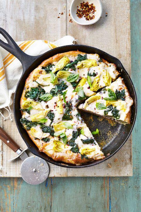 spinach artichoke deep dish pizza recipe