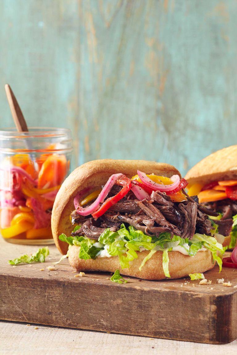 Slow-Cooker Roast Beef Sandwiches Recipe