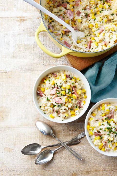 Corn-and-Ham Risotto Recipe
