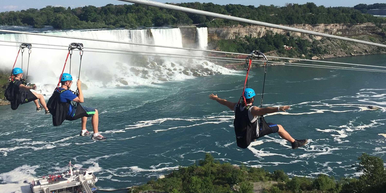 zip lining over niagara falls