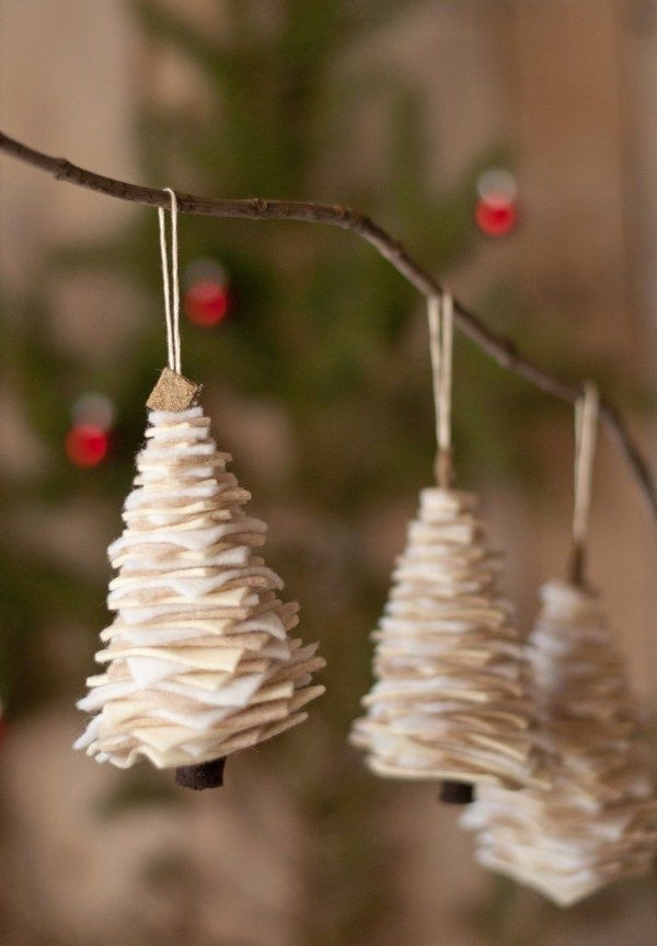 Marvelous Felt Homemade Christmas Tree Ornaments