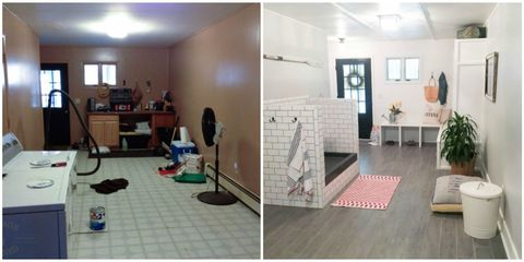 Floor, Flooring, Room, Flowerpot, Interior design, Ceiling, Tile, Interior design, Houseplant, Door,