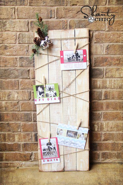 23 diy christmas card holder ideas how to display christmas cards