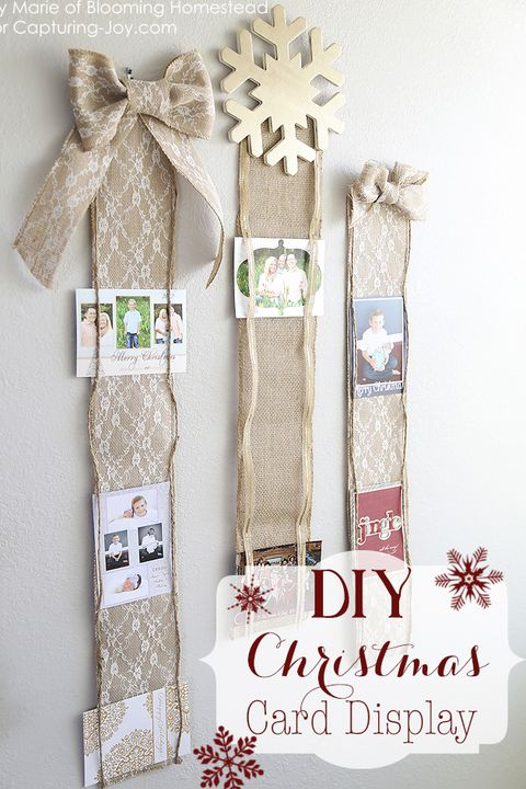 32 Diy Christmas Card Holder Ideas How To Display Holiday Cards