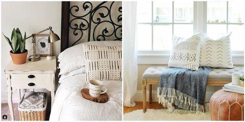 Room, Interior design, Textile, Floor, Wall, Bedding, Linens, Flooring, Hat, Cushion,