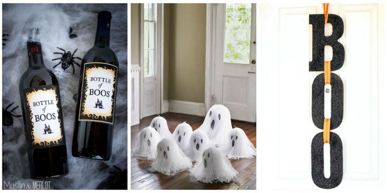 40 easy diy halloween decorations homemade do it yourself give your home sweet home a decidedly devilish air with these easy do it yourself halloween decorating ideas plus see more spooky and creative halloween solutioingenieria Choice Image