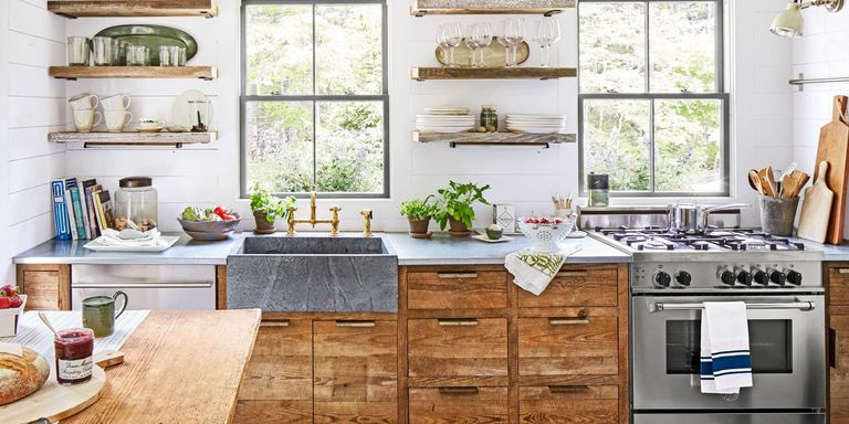 cosy ideas for decorating on top of kitchen cabinets. From bold design choices to affordable appliances  our kitchen decorating ideas and inspiration pictures will help make this everyone s favorite room in the 100 Kitchen Design Ideas Pictures of Country Decorating