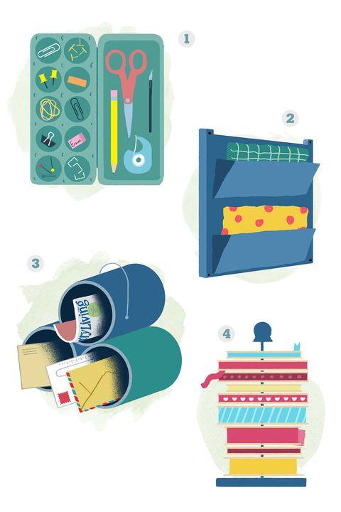Aqua, Teal, Turquoise, Television accessory, Rectangle, Illustration, Baggage, Plastic,