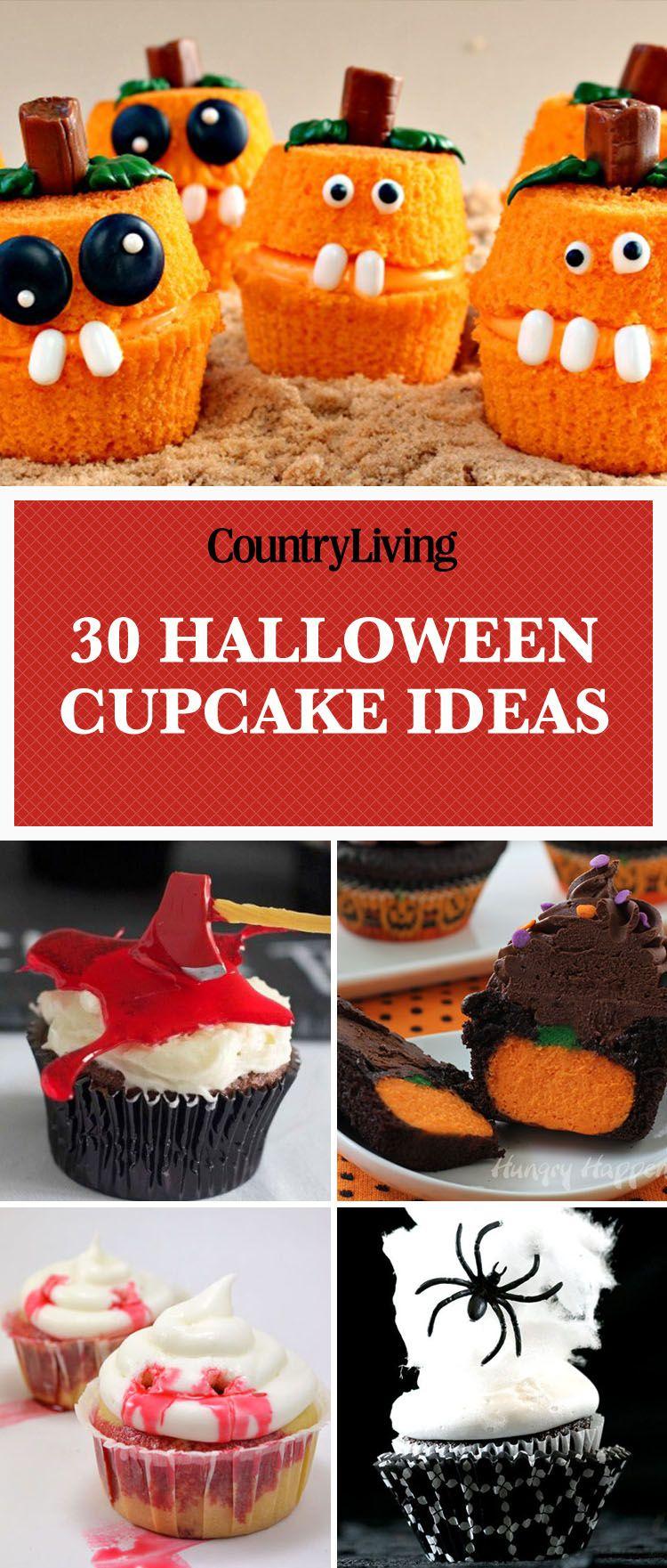 30 Halloween Cupcake Ideas - Easy Recipes for Cute Halloween Cupcakes