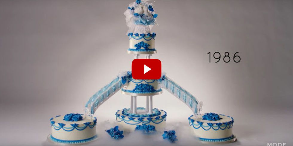 Watch 100 Years of Wedding Cakes in 2 Minutes