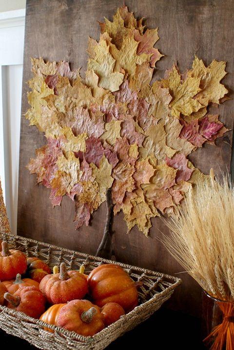 Fall Decorating Ideas Leaf Art