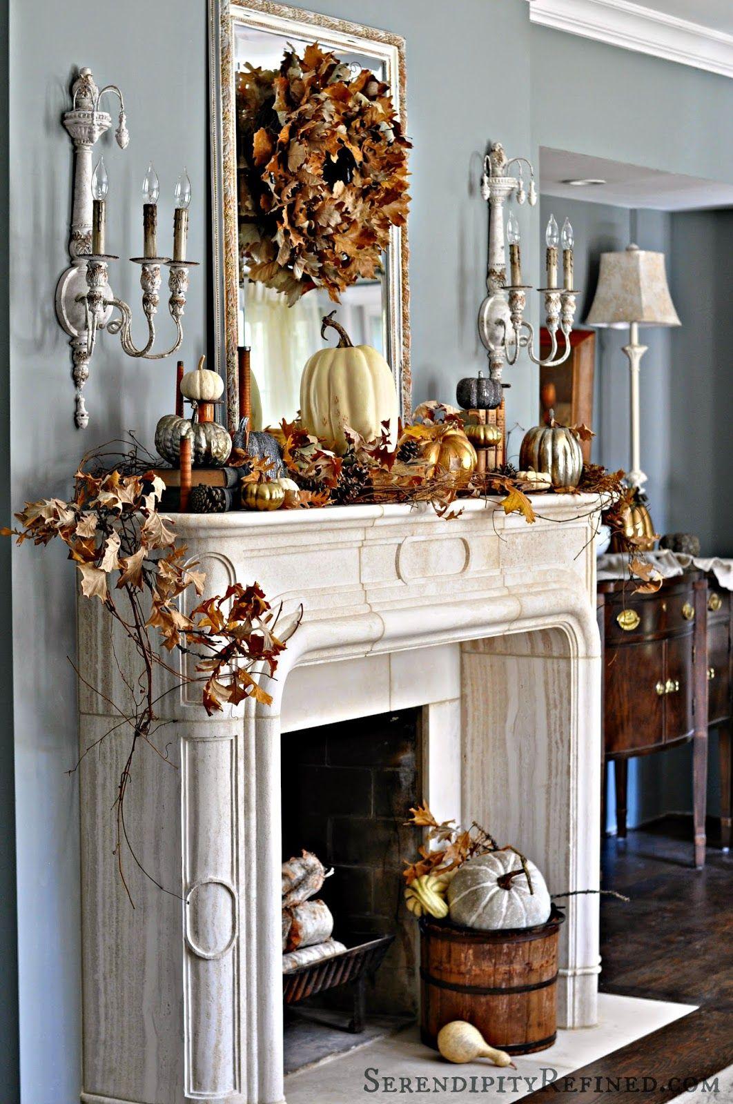 & 35 Fall Mantel Decorating Ideas - Halloween Mantel Decorations