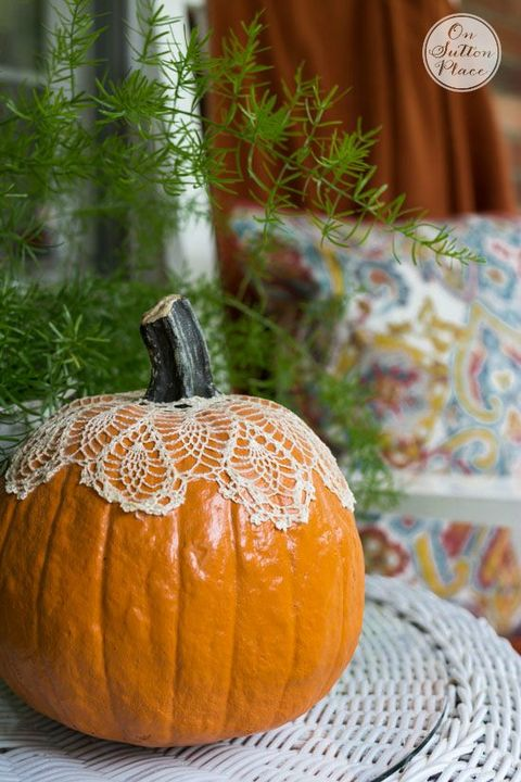 Fall Decorating Ideas Pumpkin Doily