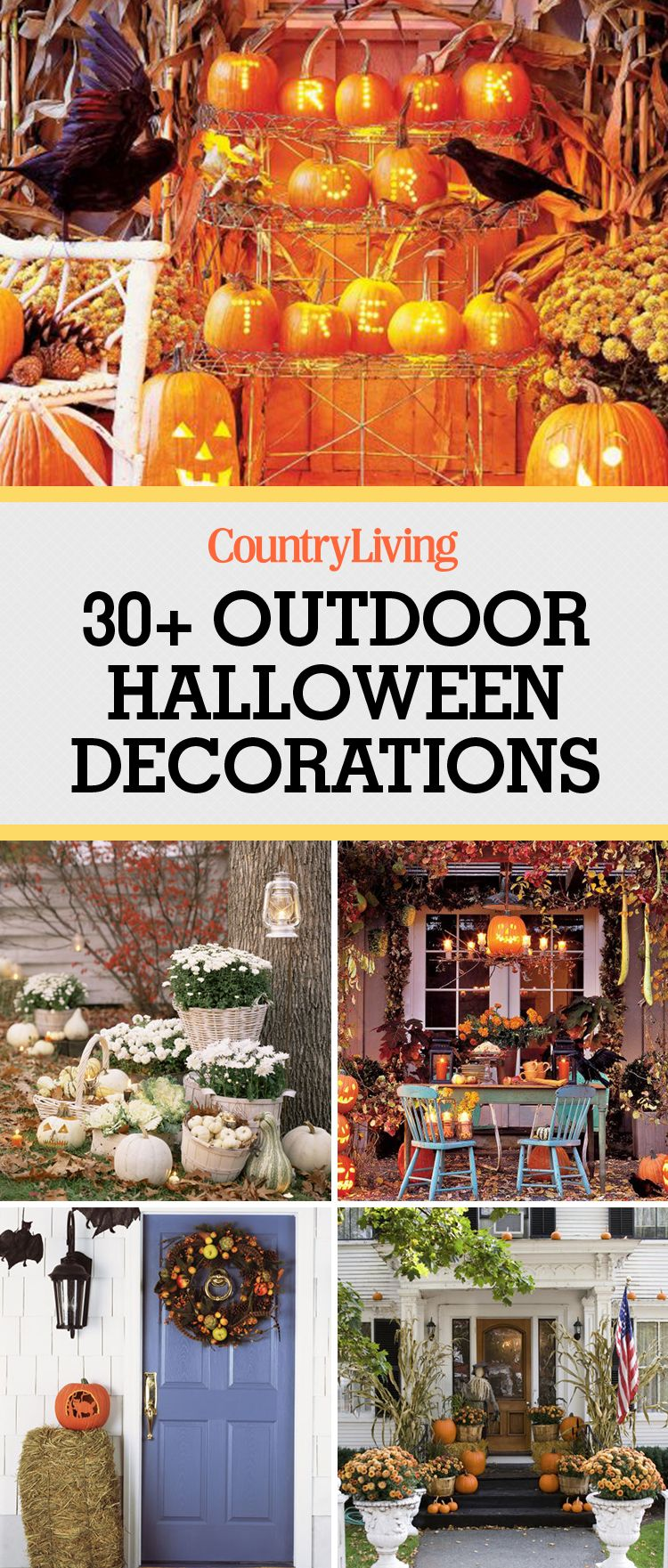 30+ Best Outdoor Halloween Decoration Ideas   Easy Halloween Yard And Porch  Decor