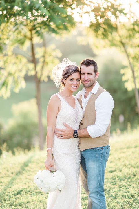 Human, Dress, Trousers, Shirt, Photograph, Jeans, Happy, Bridal clothing, People in nature, Wedding dress,