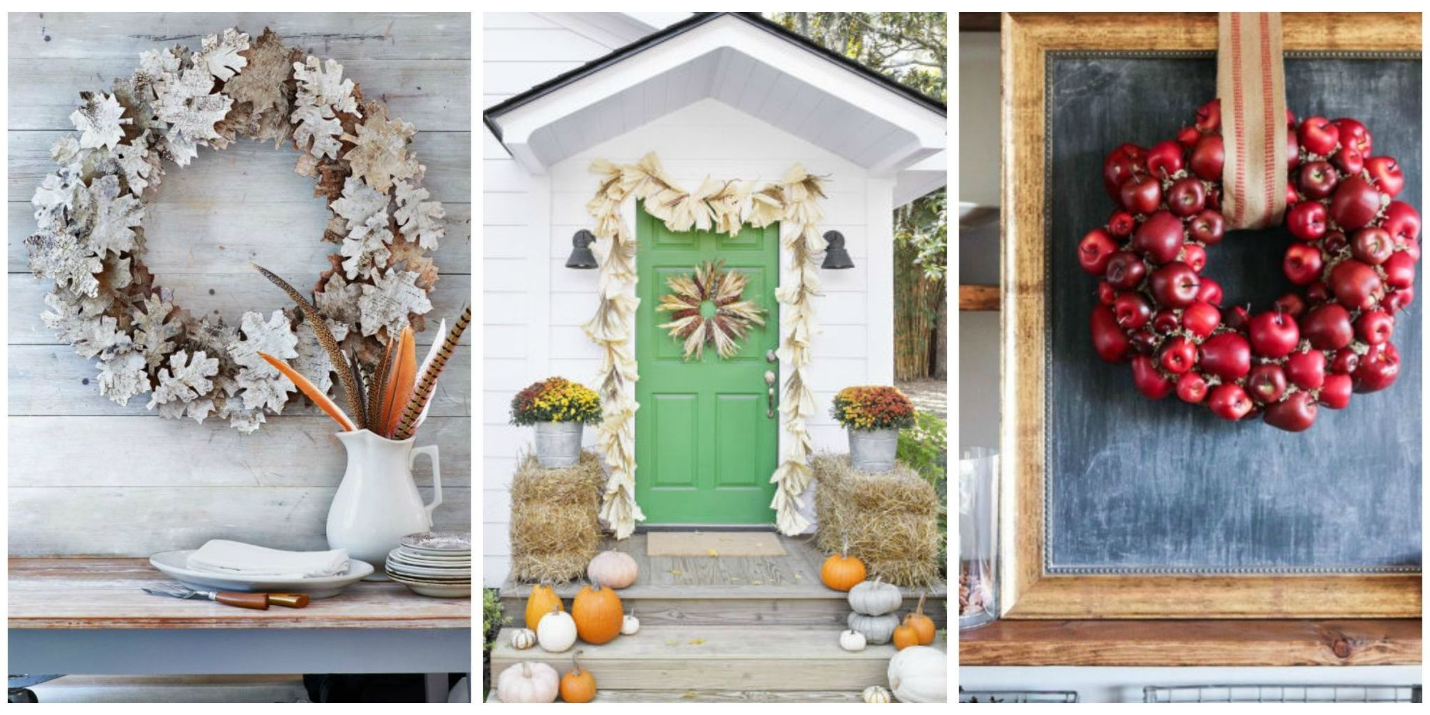 Decorate your home with these unique wreaths that pay tribute to the motifs of harvest season. Plus get more fall door decorating ideas.  sc 1 st  Country Living Magazine & 39 DIY Fall Wreaths - Ideas for Autumn Wreath Crafts
