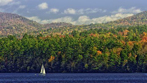 Nature, Vegetation, Watercraft, Sail, Boat, Sailing, Sailing, Mountain, Sailboat, Biome,
