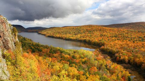 Vegetation, Nature, Natural landscape, Cloud, Deciduous, Landscape, Plant community, Leaf, Nature reserve, Stream,