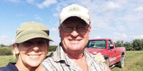 Glasses, Cap, Smile, Truck, Pickup truck, Headgear, Commercial vehicle, Baseball cap, Cricket cap, Truck bed part,