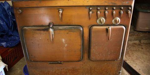 Tan, Wood stain, Wood, Furniture, Baggage, Metal,