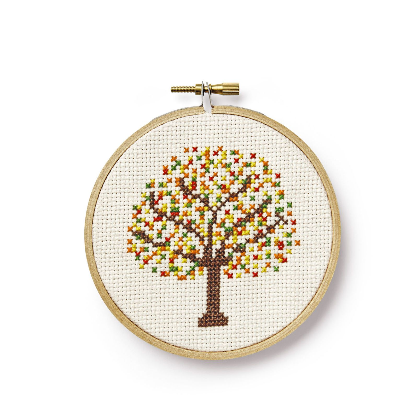 Home & Garden United Available Factory Sale Cross Stitch Kit Embroidery Package Printed Fabric Green Tree Or Pink Tree Choose One