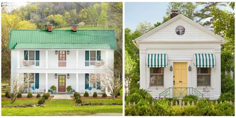 Green, Window, Property, House, Home, Real estate, Roof, Land lot, Building, Door,