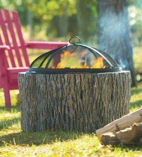 Grass, Trunk, Outdoor furniture, Tree stump, Natural material,