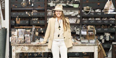 Jacket, Street fashion, Retail, Shelf, Blazer, Bag, Shelving, Collection, Natural material, Fashion design,