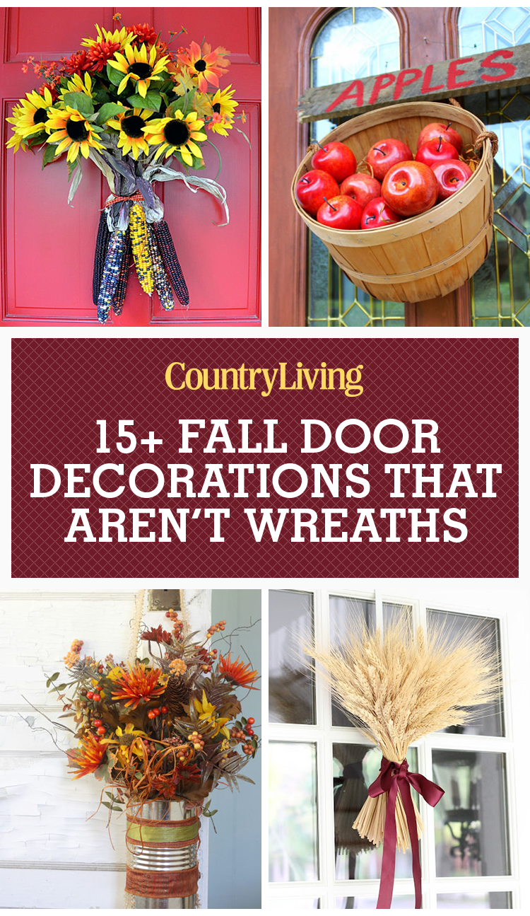 18 fall door decorations ideas for decorating your front door for autumn - Fall Door Decorations