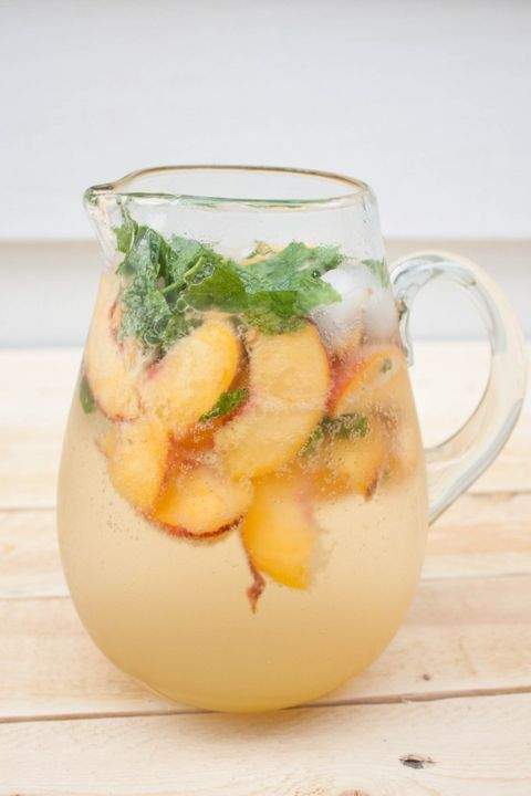 5 Ingredient  Peach Mojitos