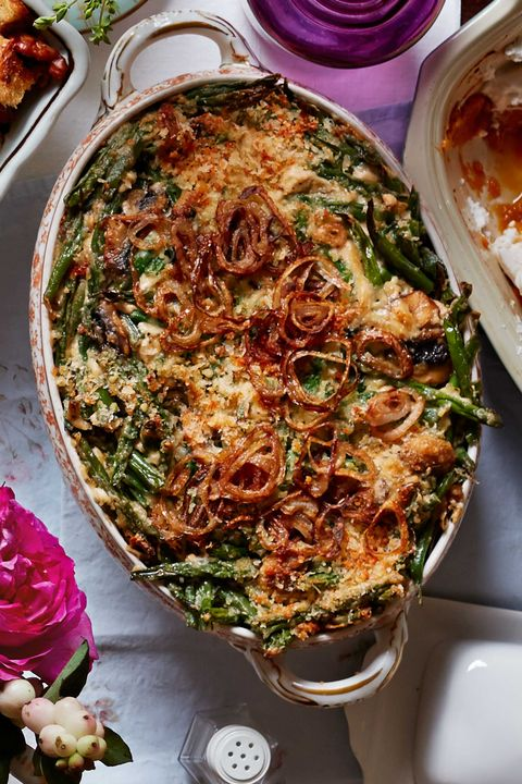 green bean casserole with fried shallots recipe