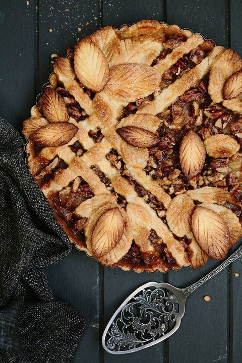 Fall Pies with leaf crusts