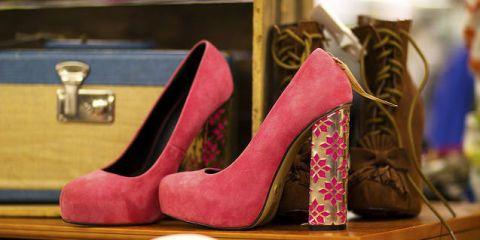 Footwear, High heels, Red, Basic pump, Carmine, Fashion, Tan, Maroon, Magenta, Beige,