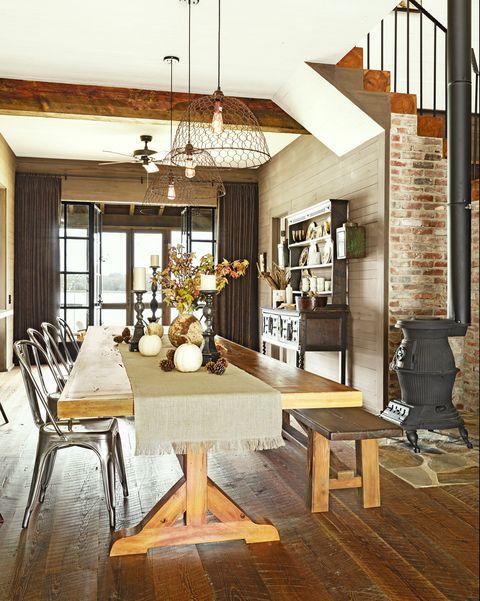 interior design, furniture, table, floor, ceiling, light fixture, stairs, interior design, chandelier, hardwood,