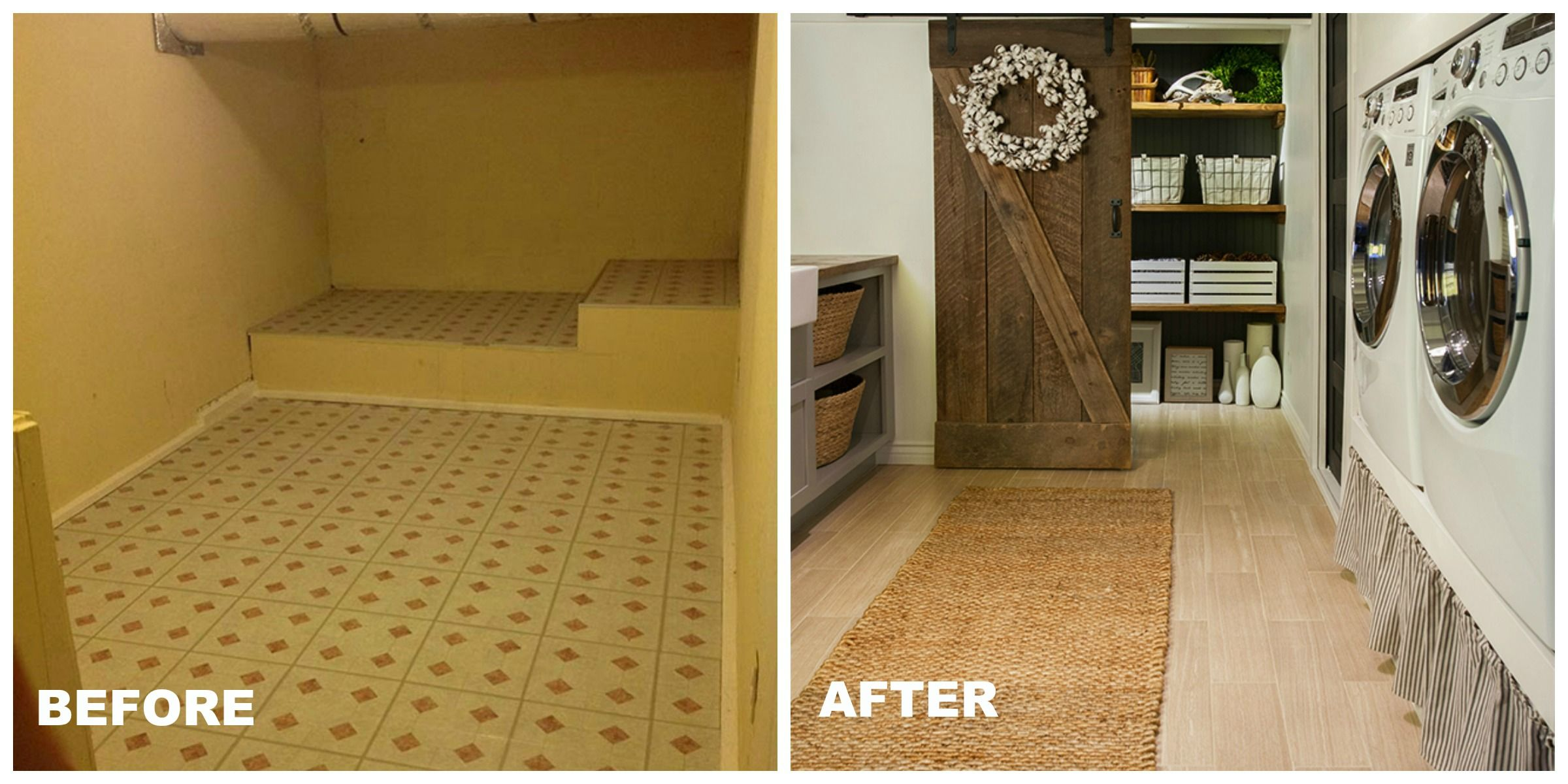 Inside A Dramatic Laundry Room Transformation