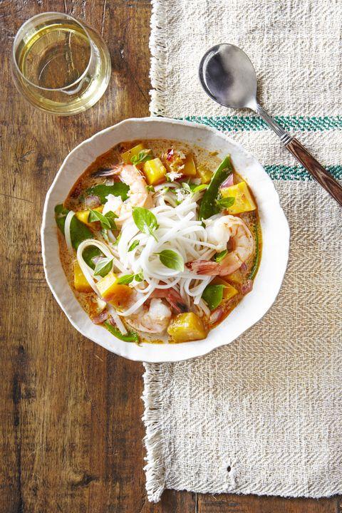 thai noodle soup with shrimp  pumpkin recipe