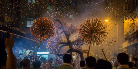 Head, People, Event, Night, Crowd, Midnight, Fireworks, World, Holiday, Public event,