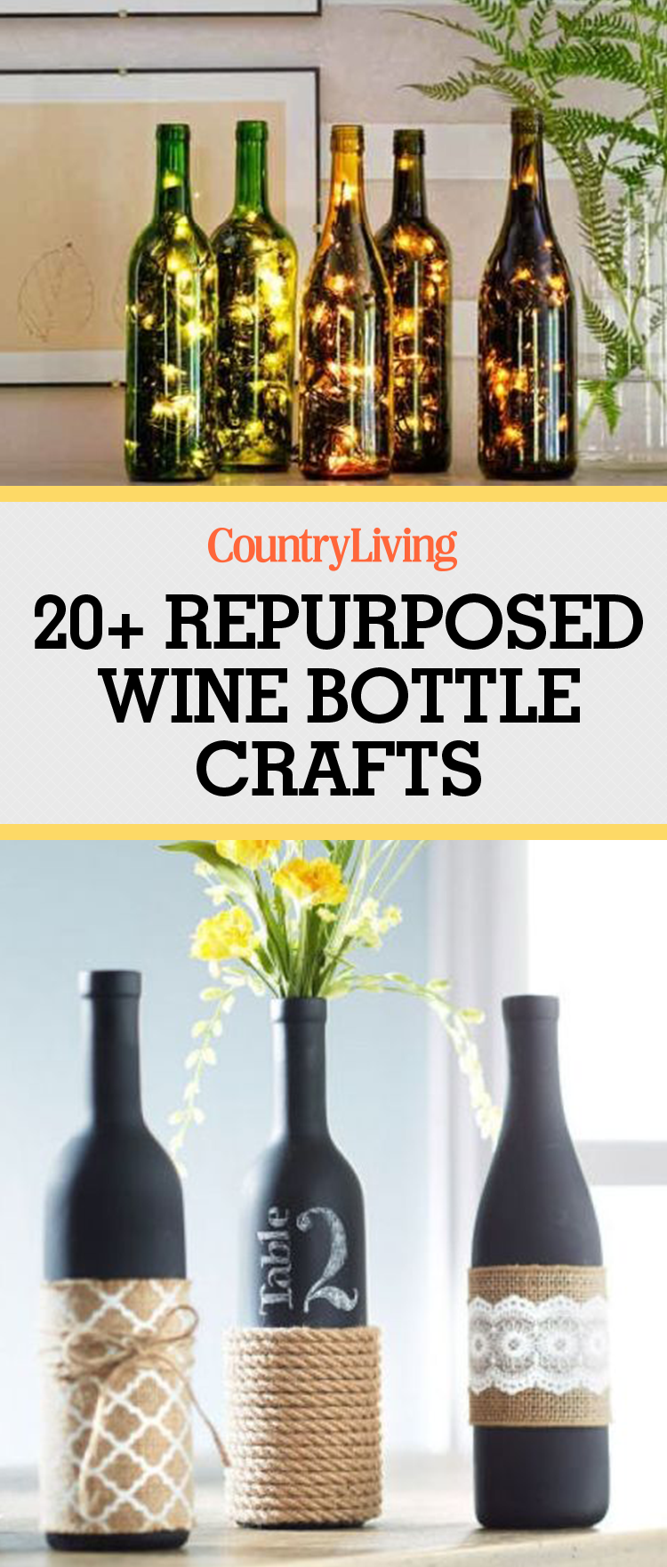 Good Wine Bottle Crafts Part - 3: Country Living Magazine