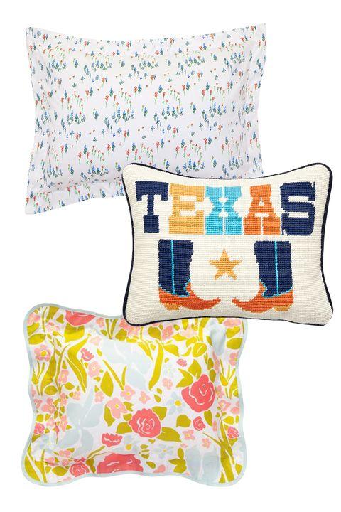 Blue, Textile, Cushion, Throw pillow, Pattern, Orange, Pillow, Linens, Home accessories, Aqua,