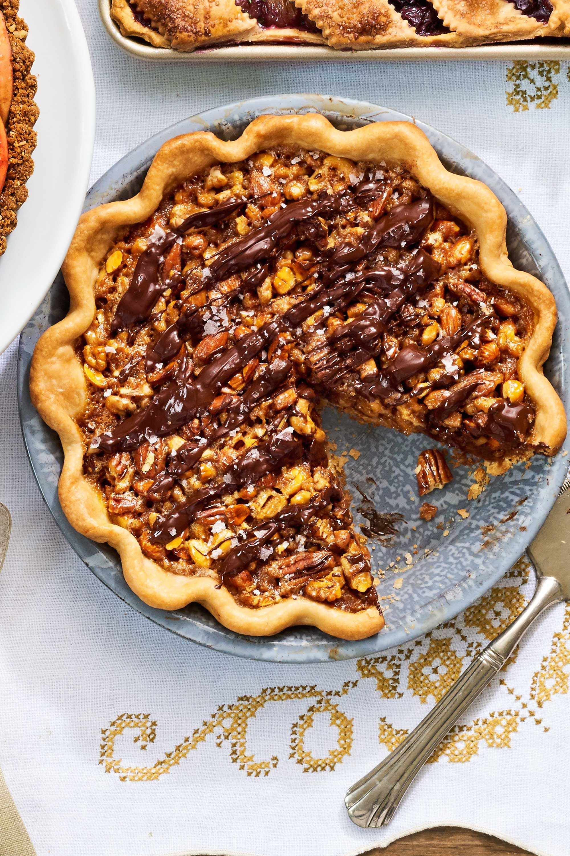 maple nut pecan pie recipe