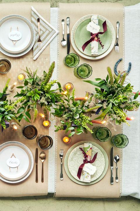 Fl Napkin Thanksgiving Table Setting