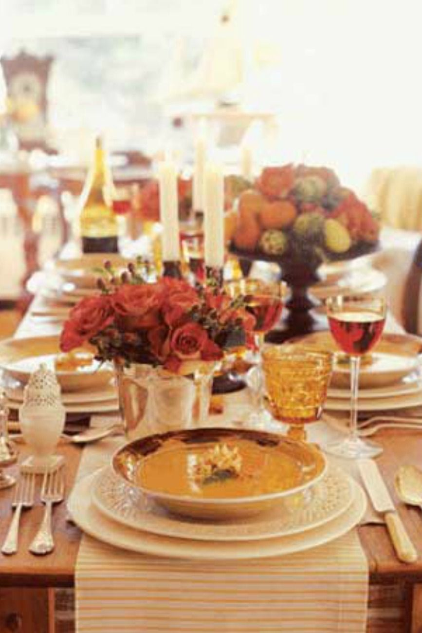 40+ Thanksgiving Table Settings - Thanksgiving Tablescapes u0026 Decoration Ideas & 40+ Thanksgiving Table Settings - Thanksgiving Tablescapes ...