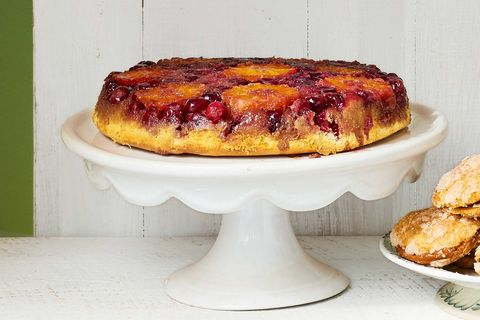 Upside-Down Orange-Cranberry Cake Recipe