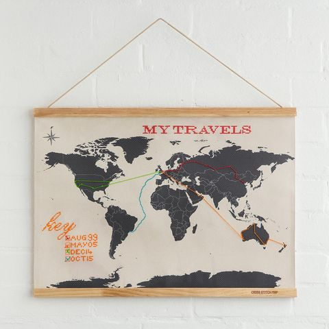 gifts for crafters diy embroidery map