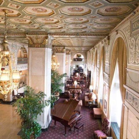 Interior design, Ceiling, Hall, Interior design, Molding, Houseplant, Palace, Flowerpot, Light fixture, Holy places,