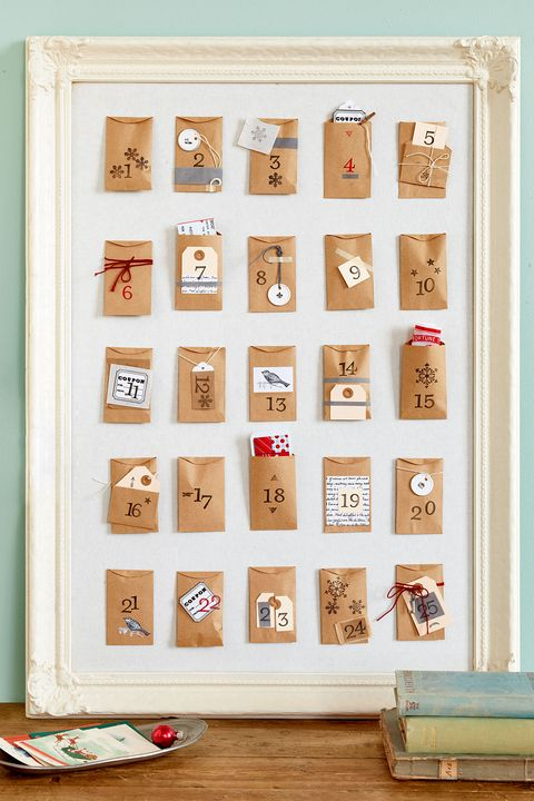 paper envelope advent calendar