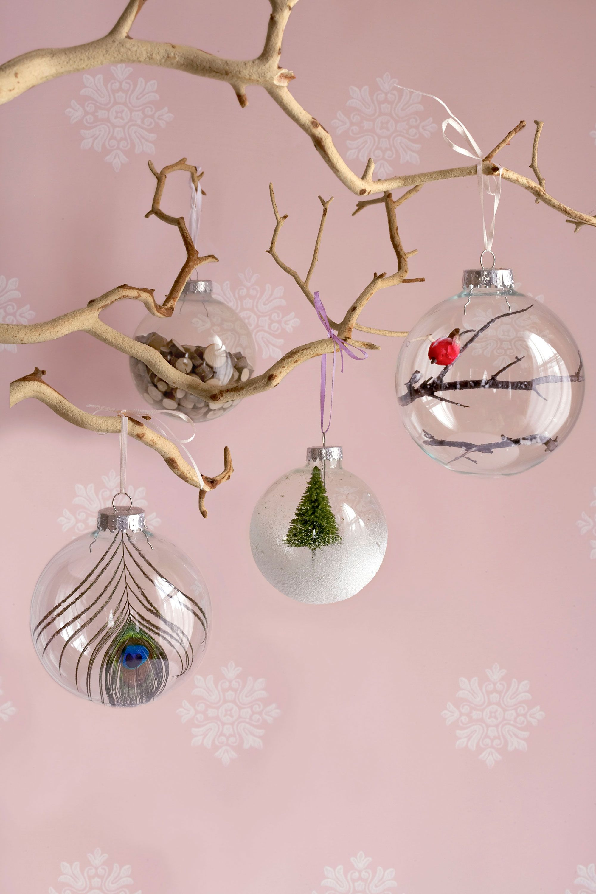 45 diy homemade christmas decorations christmas decor you can make - Christmas Tree Branch Decorations