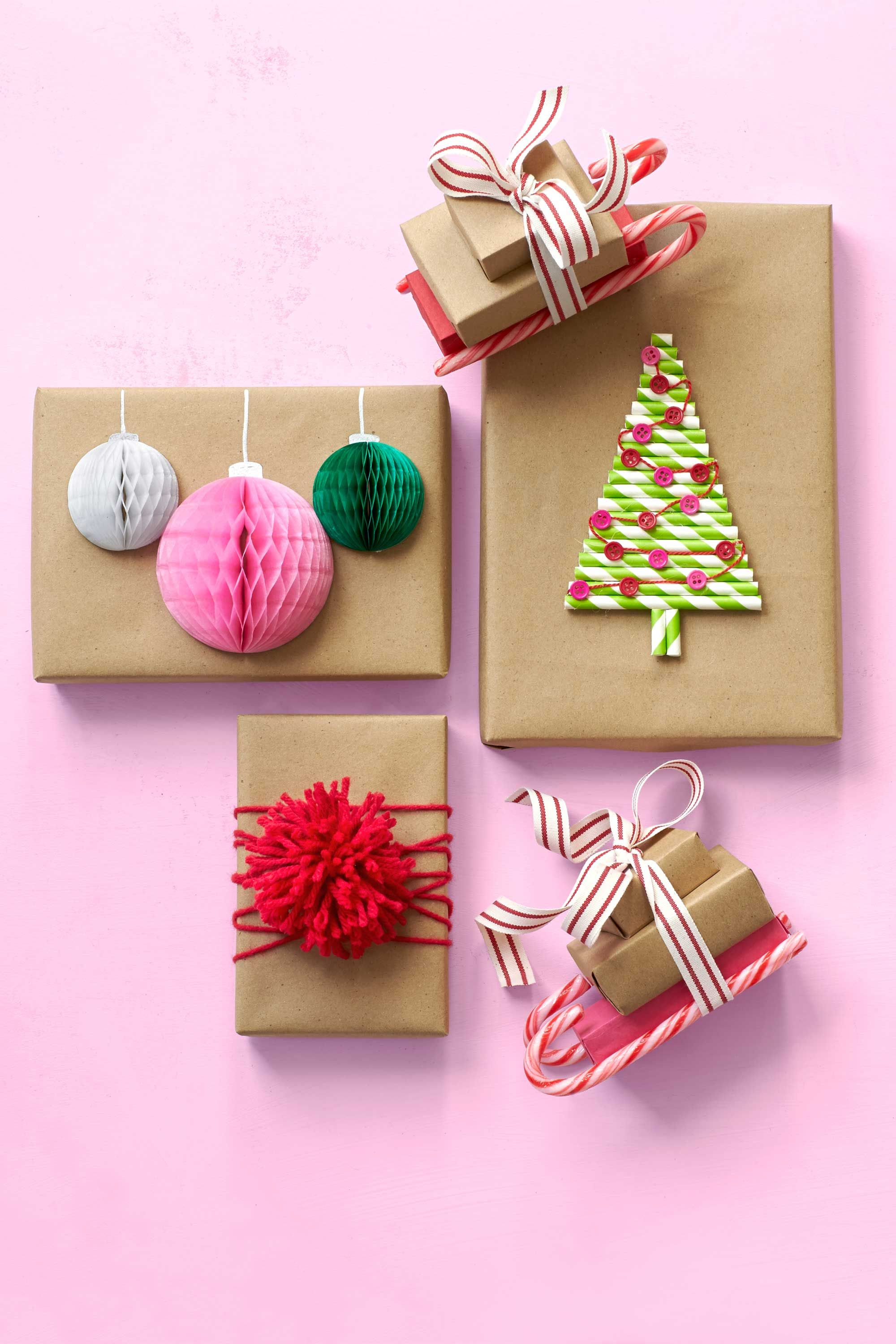 gift-wrapping ideas honeycomb ornaments