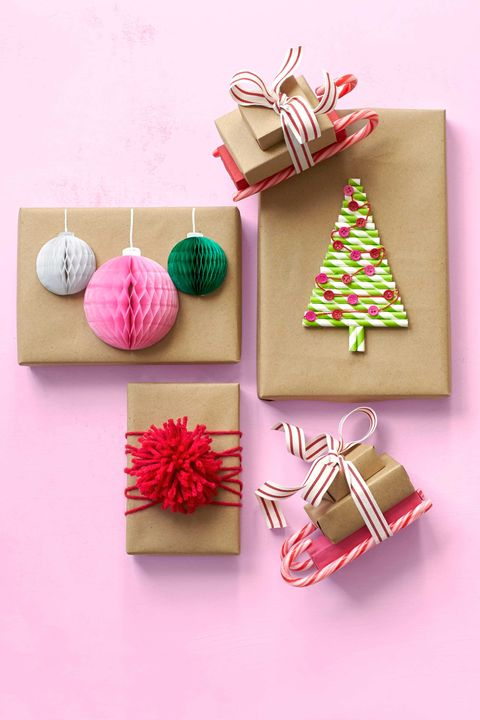 gift wrapping ideas honeycomb ornaments